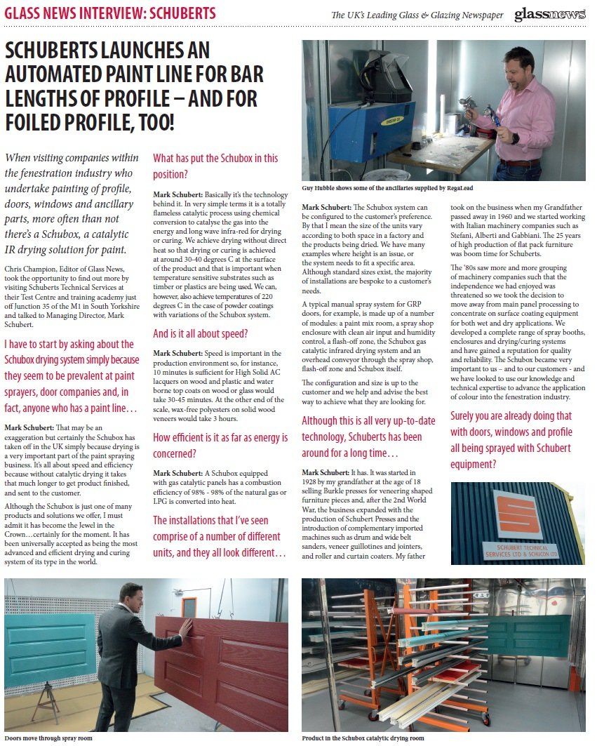 Glass News Article On Automatic Profile Spraying Pvc